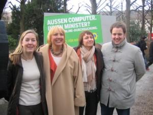 Aktion in Karlsruhe