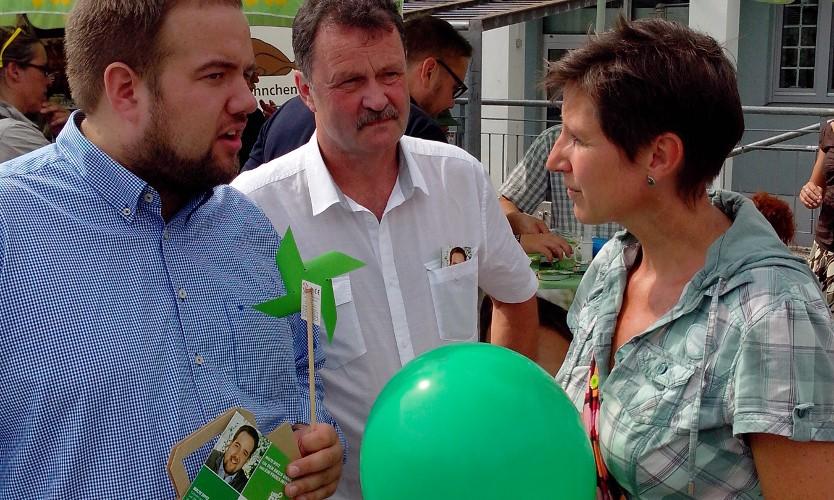 Wochenmarkt Bergkamen Malte, Herbert und Anke